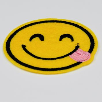 Smiling With Tongue Out Emoji Patch
