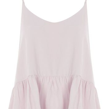 Relaxed Peplum Camisole Top