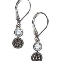 Sterling Silver  & Crystal Drop Earrings   Lord and Taylor