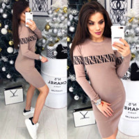 FENDI Long Sleeve Bodycon Dress