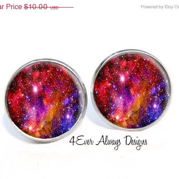 ON SALE Colorful Galaxy Space Earrings
