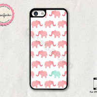 Elephant Design iPhone 5C Case, iPhone Case, iPhone Hard Case, iPhone 5C Cover