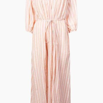 Nefasi Empress Maxi Dress - Coral Stripe Print