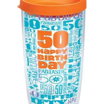 Hallmark 50th Birthday Wrap with Lid | 16oz Tumbler | Tervis®