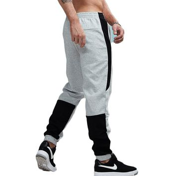 Thick Striped Patchwork Jogger Pants