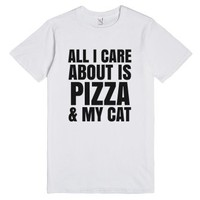 All I Care About Is Pizza And My Cat T-shirt (id6152141)-T-Shirt