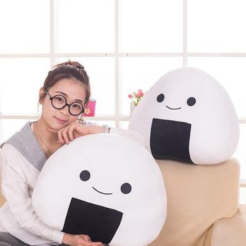 1PC  30cm Japanese sushi rice pillow cushion creative stuffed plush toy cute balls doll the second element dumpling dol