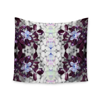 "Pia Schenider ""Roses ll"" Purple White Wall Tapestry"