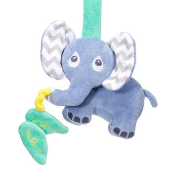 Elephant Organic Plush Crib/Stroller Toy