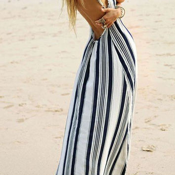 Stripe Maxi Dress