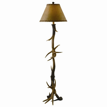 Crestview Collection  Antler Floor Lamp, Brown, Resin