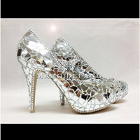 The Party Queen Mirror Shoe by MDNY Heels