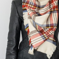 Plaid Scarf - Holiday Fashion - Christmas Gift - Fashion Accessory - Women Accessory - Gift For Her For Him Men Women Unisex