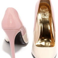 Halfway There Nude and Blush Patent Pumps