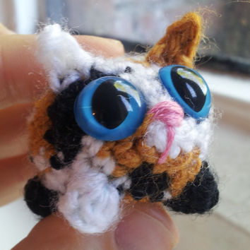 Adopt A Kitten -- Hermione - crochet cat amigurumi cat small cat plush stuffed cat toy cat miniature cat calico cat tortoiseshell cat