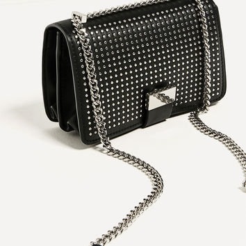 STUDDED CROSSBODY BAG DETAILS