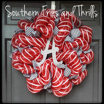University of Alabama Deco Mesh Wreath