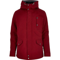 River Island MensRed casual padded jacket