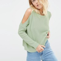 ASOS Sweater With Cold Shoulder Detail at asos.com
