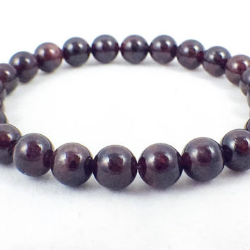 Garnet Bracelet | A grade | January Birthstone | Healing Bracelet | Metaphysical Jewelry | Energy Jewelry | Reiki Stone | 10mm