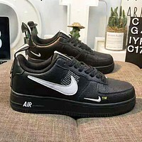 NIKE Air Force 1 Popular Women Men Sports Running Shoes Sneakers Black