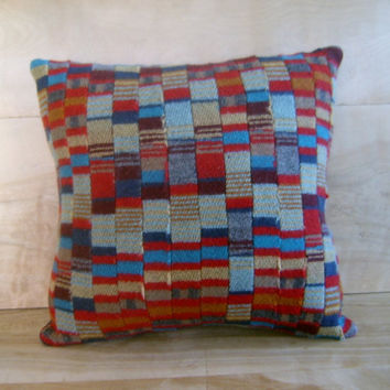 Pendleton Wool Quilted Pillow 14x14 by RobinCottage on Etsy