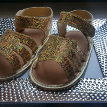 Gold Baby Sandals Velcro Baby Shoes,Gold Baby Shoes,Christening baby shoes, baby girl crib shoes, Wedding, Ready to ship