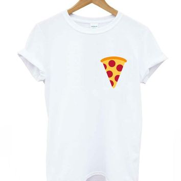 pizza pocket Print Women T shirt Casual Cotton Hipster Shirt For Lady Funny Top Tee White Drop Ship B-130
