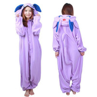 Animal Onesuit Sleepwear Pokemon Go Pocket Monster Master Espeon Kigurumi Cosplay Costume Fleece Pajamas
