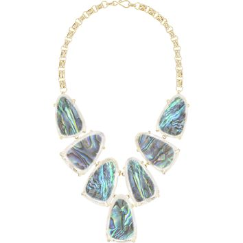 Kendra Scott: Harlow Statement Necklace In Suspended Abalone Shell