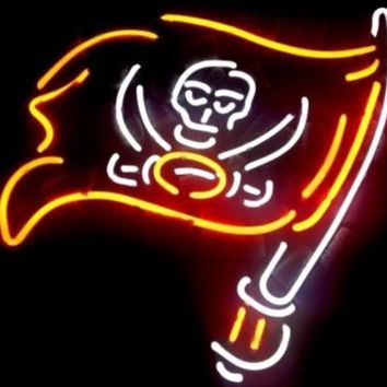 """Business Custom NEON SIGN board For Football LED Tampa Bay Buccaneers REAL GLASS Tube BEER BAR PUB Club Shop Light Signs 15*14"""""""