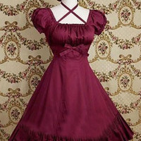 Red Ruffkes Cotton Classic Gothic Lolita Dress Lolita Clothes lolita costumes cosplay halloween christmas Alternative Measures - Brides & Bridesmaids - Wedding, Bridal, Prom, Formal Gown