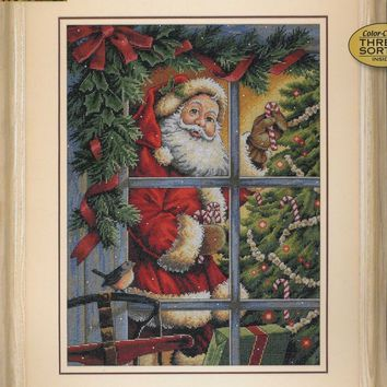 Top Quality Beautiful Lovely Counted Cross Stitch Kit Candy Cane Santa Christmas Tree Tradition Holiday dim 08734