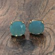 Large Stone Studs Teal