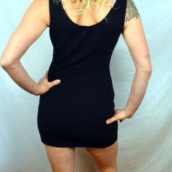 Vintage 80s Sexy Little Black Mini Dress - All That Jazz