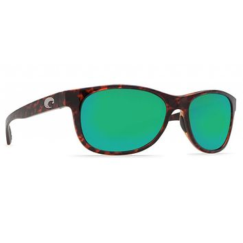 Prop Tortoise Sunglasses with Green Mirror 580P Lenses by Costa Del Mar