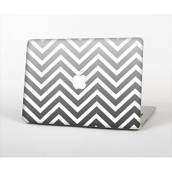 The White & Gradient Sharp Chevron Skin Set for the Apple MacBook Pro 15""