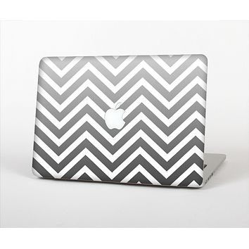 "The White & Gradient Sharp Chevron Skin Set for the Apple MacBook Pro 13"" with Retina Display"