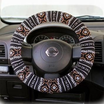 Steering-wheel-cover-wheel-car-accessories-Aztec-Tribal-Ethnic-Steering-Wheel-Cover