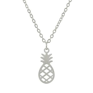 Pineapple Outline Necklace