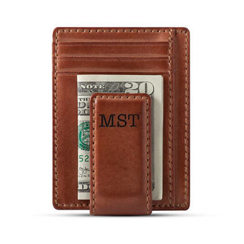 CARRYALL MAGNETIC Front Pocket Wallet • Money Clip Wallet • Groomsmen Gift • Mens Leather Wallet•Anniversary Gift •Multi-Card Functionality
