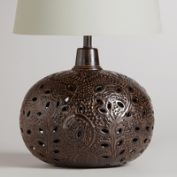 Prema Punched Metal Table Lamp Base - World Market