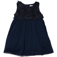 Carter's Girls Navy Satin/Chiffon Party Dress and Diaper Cover