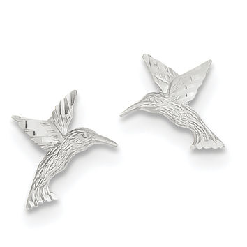14k White Gold  Hummingbird Earrings TC626W