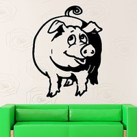Wall Stickers Vinyl Decal Pig Funny Animal Farm Village Decor (ig121)
