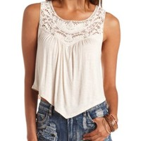 CROCHET BIB SWING TANK TOP