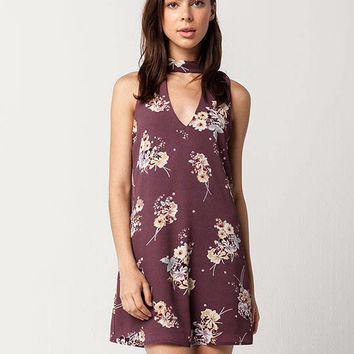 SOCIALITE Floral Choker Dress | Short Dresses
