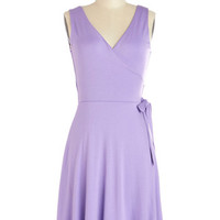 ModCloth Pastel Mid-length Sleeveless Wrap Crocus Charisma Dress