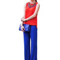 Blue Zippered Trousers
