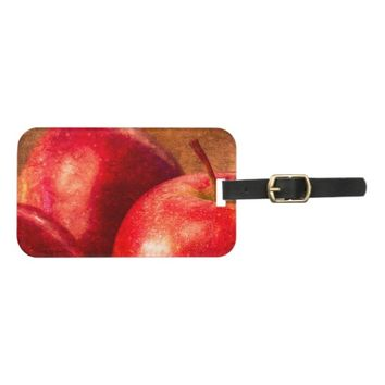 Three Red Apples Bag Tag